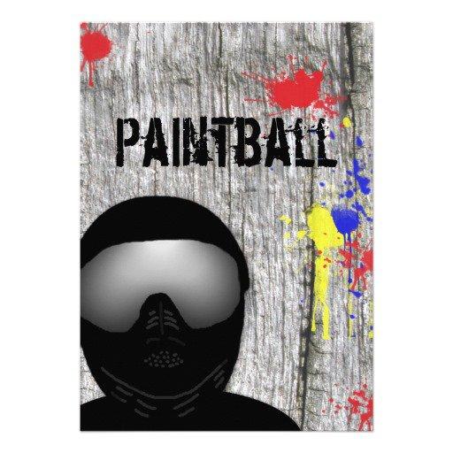 Paintball Birthday Party Invitation Templates
