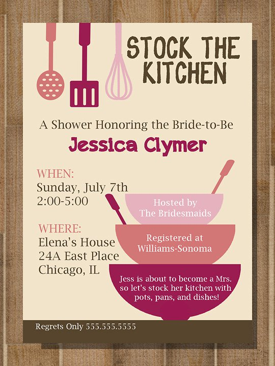 Painting Party Bridal Shower Invitation Wording