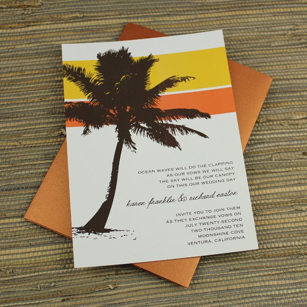 Palm Tree Wedding Invitation Template