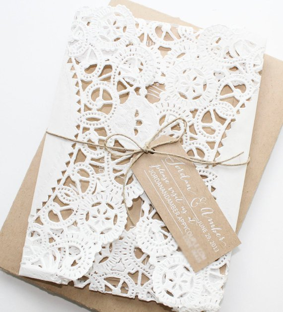 Paper Doily Wedding Invitations