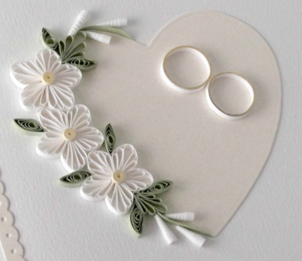 Paper Quilled Wedding Cards Pic