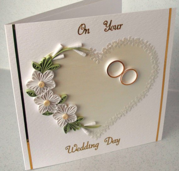 Paper Quilling Wedding Cards