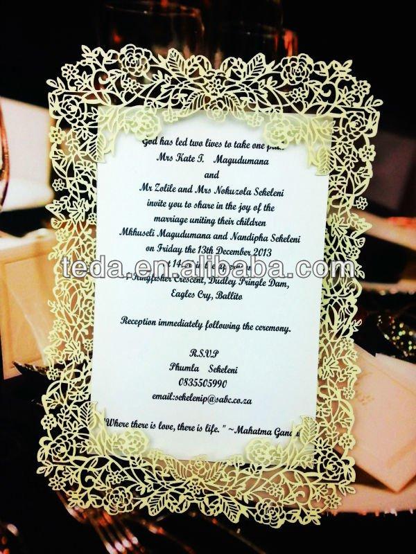Paper Wedding Invitations Supplies