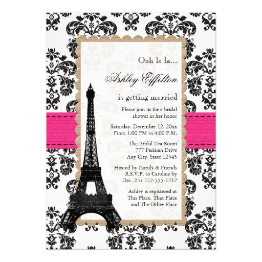 Paris Birthday Invitation Templates