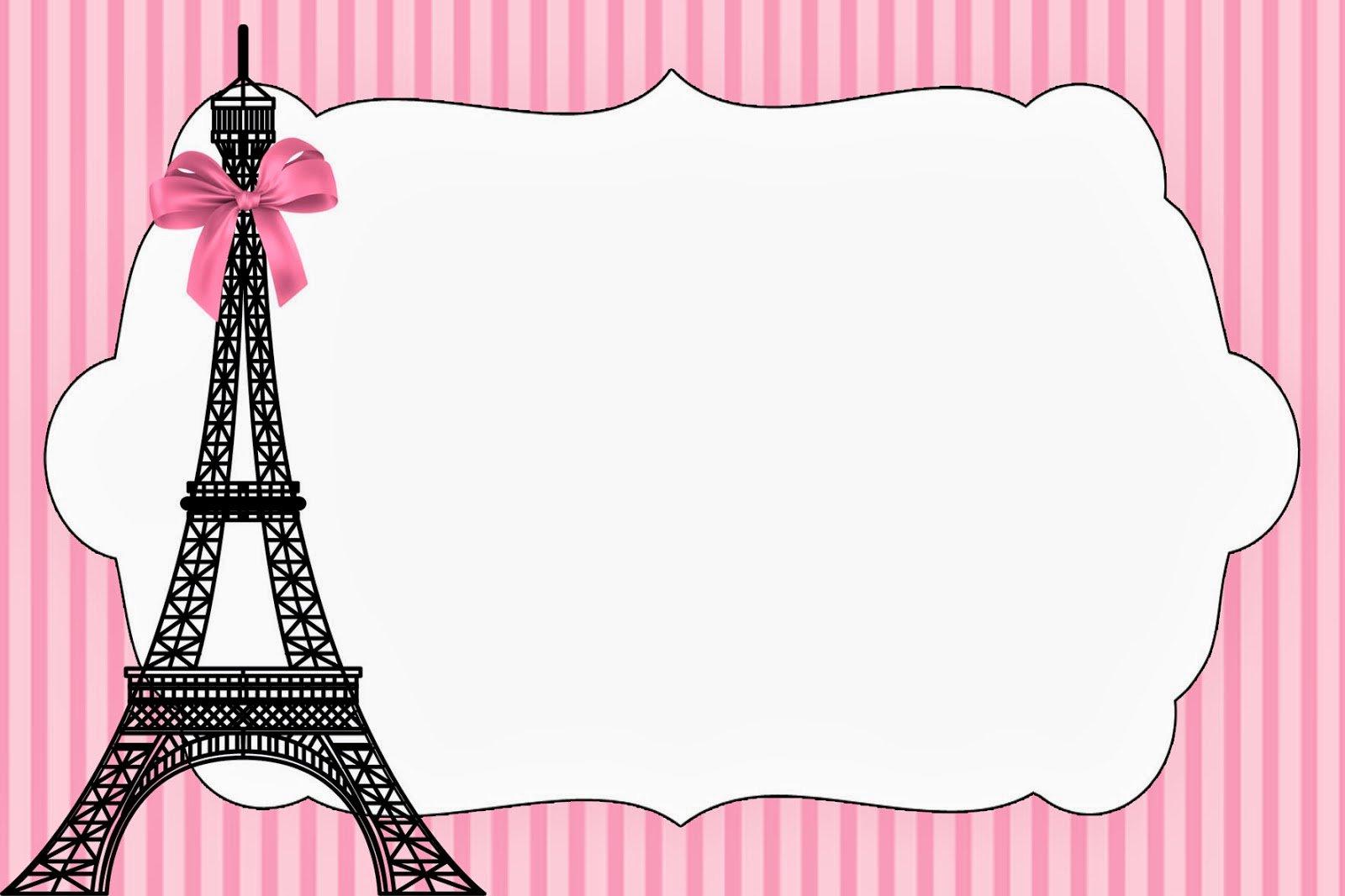 Paris Birthday Invitations Free