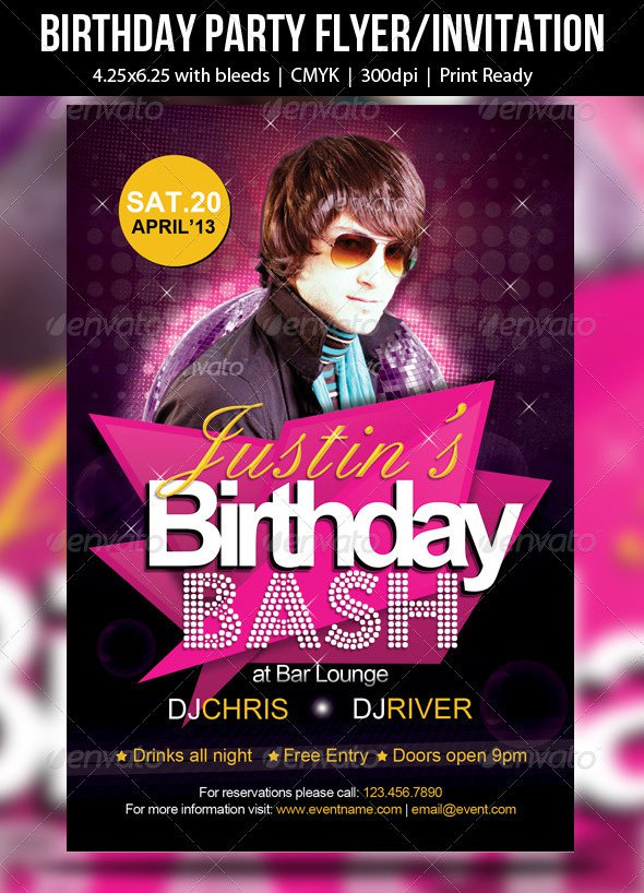 Party Invitation Flyer Sample