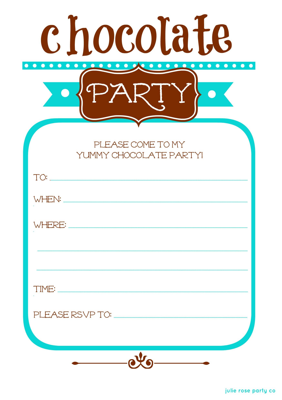 Party Invitation Rose