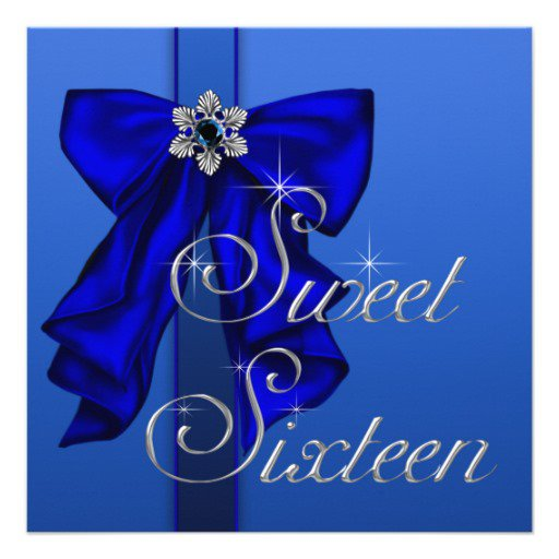 Party Invitations Royal Blue