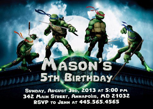 Party Invitations Tmnt