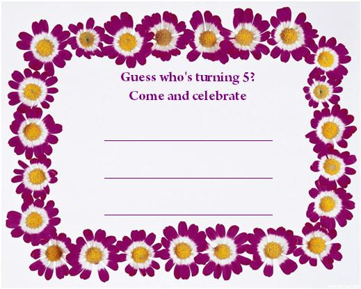 Party Invitations To Print Cards