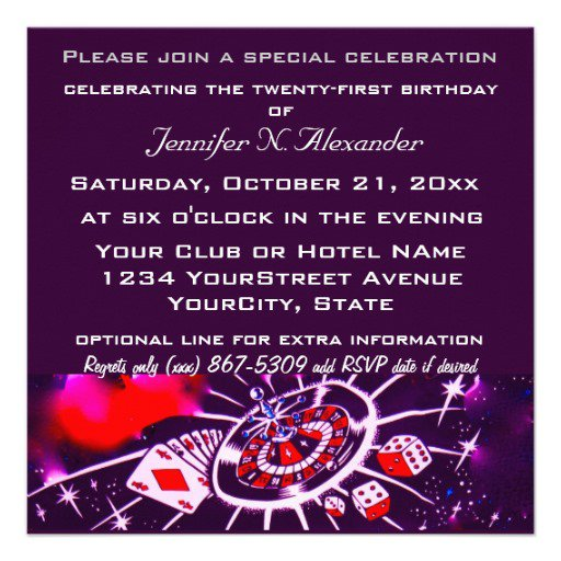 Passion Party Invitations Templates