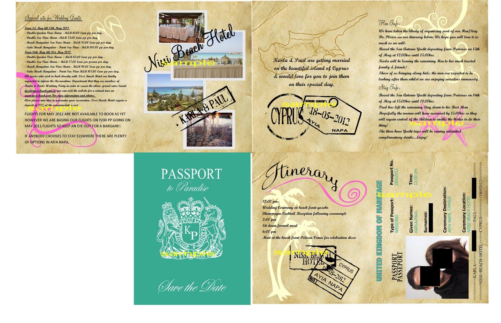 Passport Birthday Invitation Template