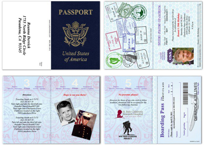 Passport Birthday Invitations Template