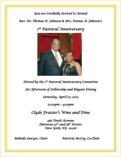 Pastor Appreciation Invitation