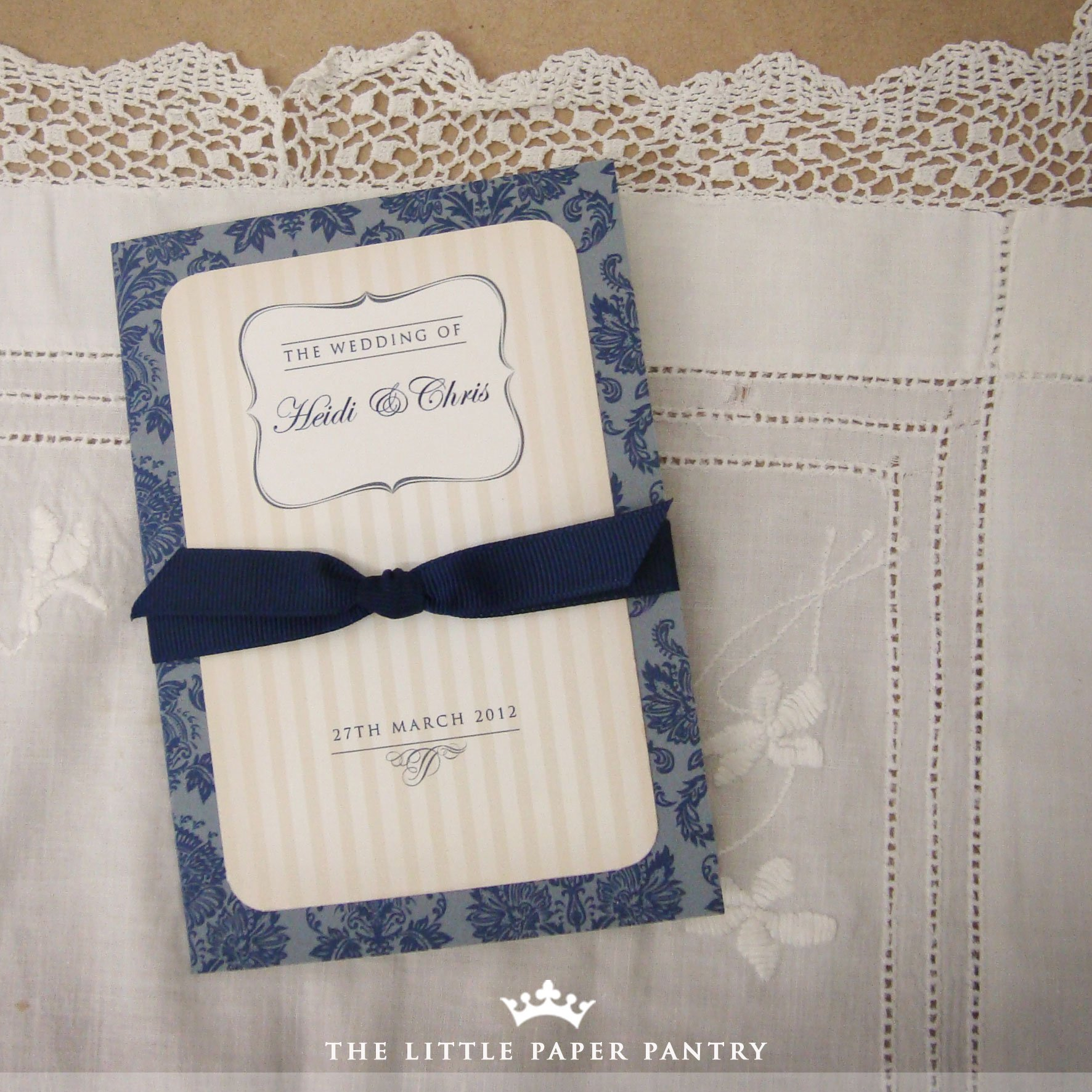 Patterned Paper For Wedding Invitations