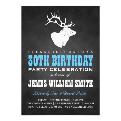 Personalized 30th Birthday Invitations