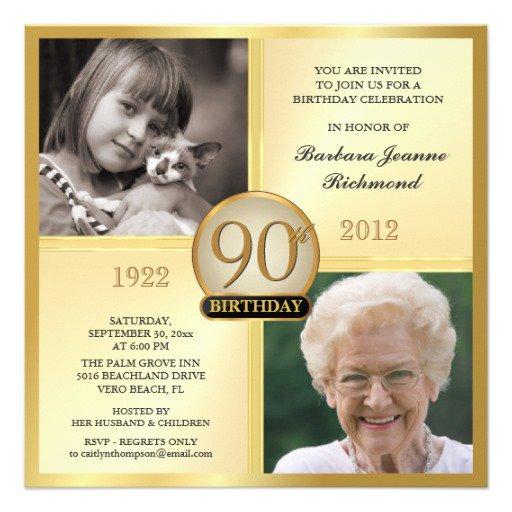 Personalized 90th Birthday Invitations