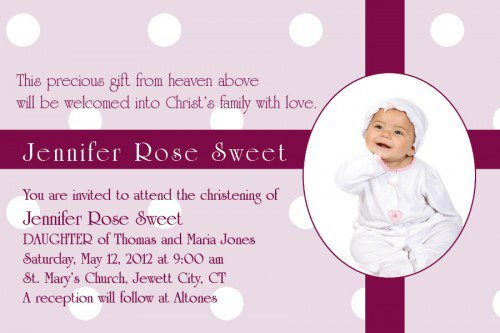 Personalized Baptism Invitations Canada