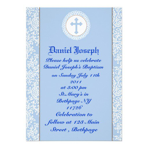 Personalized Boy Baptism Invitations