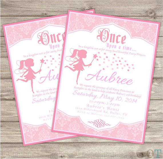 Personalized Princess Birthday Party Invitations