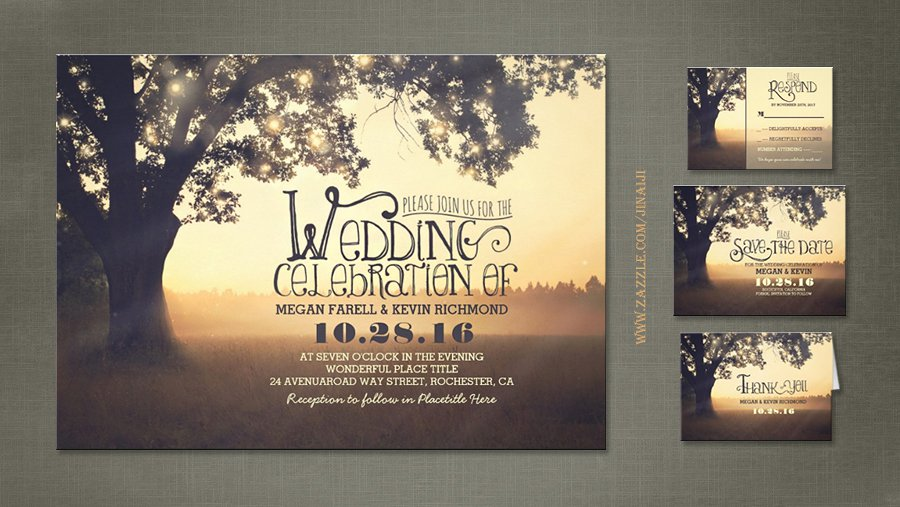 Personalized Wedding Invitations Postcards