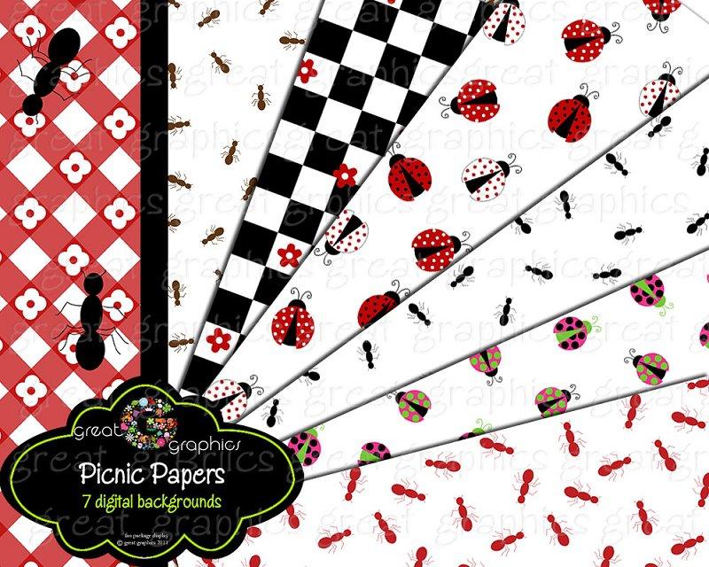Picnic Invitation Background Designs