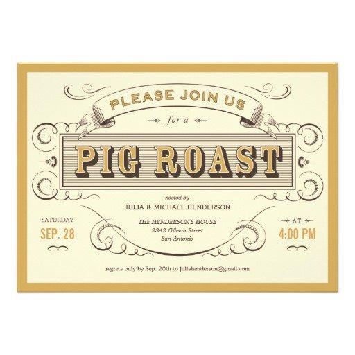 Pig Roast Invitations Free