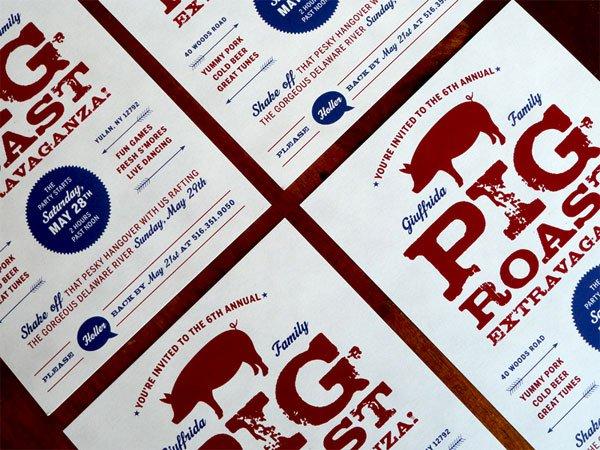 Pig Roast Invitations Postcard