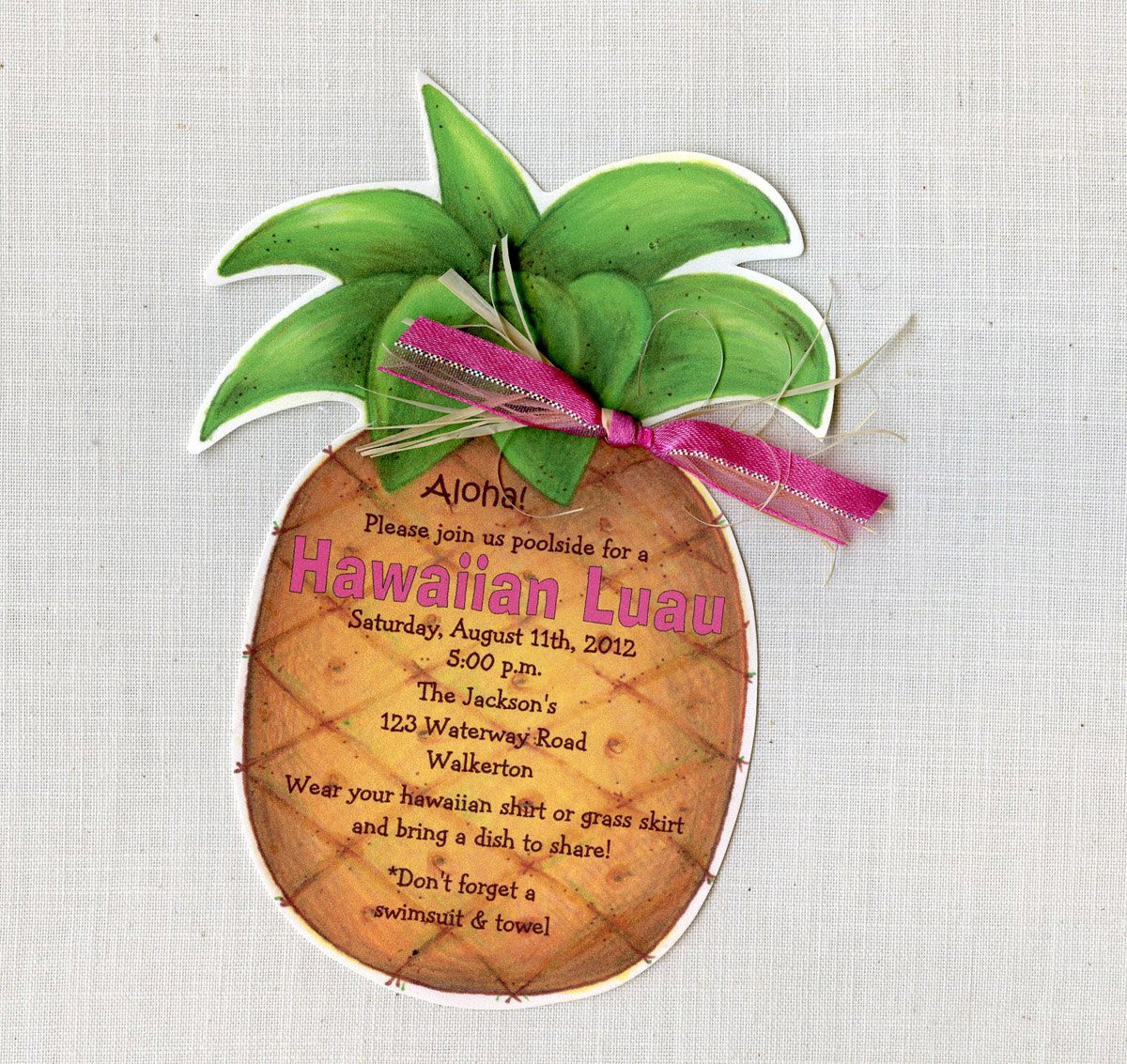 Pineapple Shaped Invitation