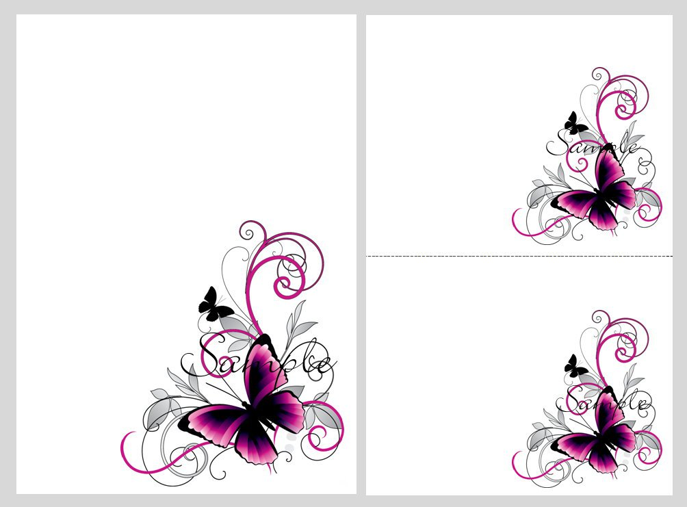 Pink And Black Birthday Invitation Templates