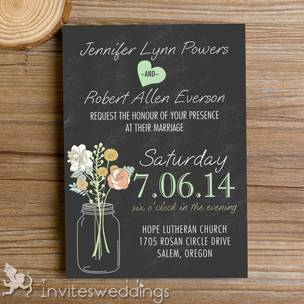 Pink And Black Wedding Invitations Cheap