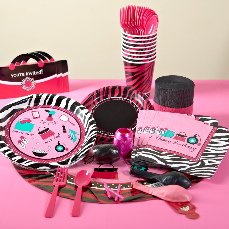 Pink And Black Zebra Birthday Invitations