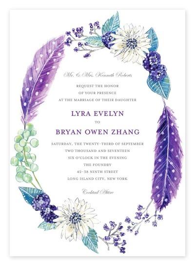 Pink And Purple Invitations