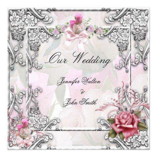 Pink Bow Wedding Invitations