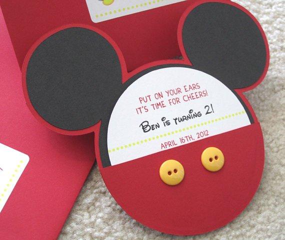 Pinterest Mickey Mouse Invitations