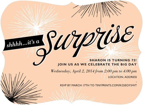 Pinterest Surprise Birthday Invitations