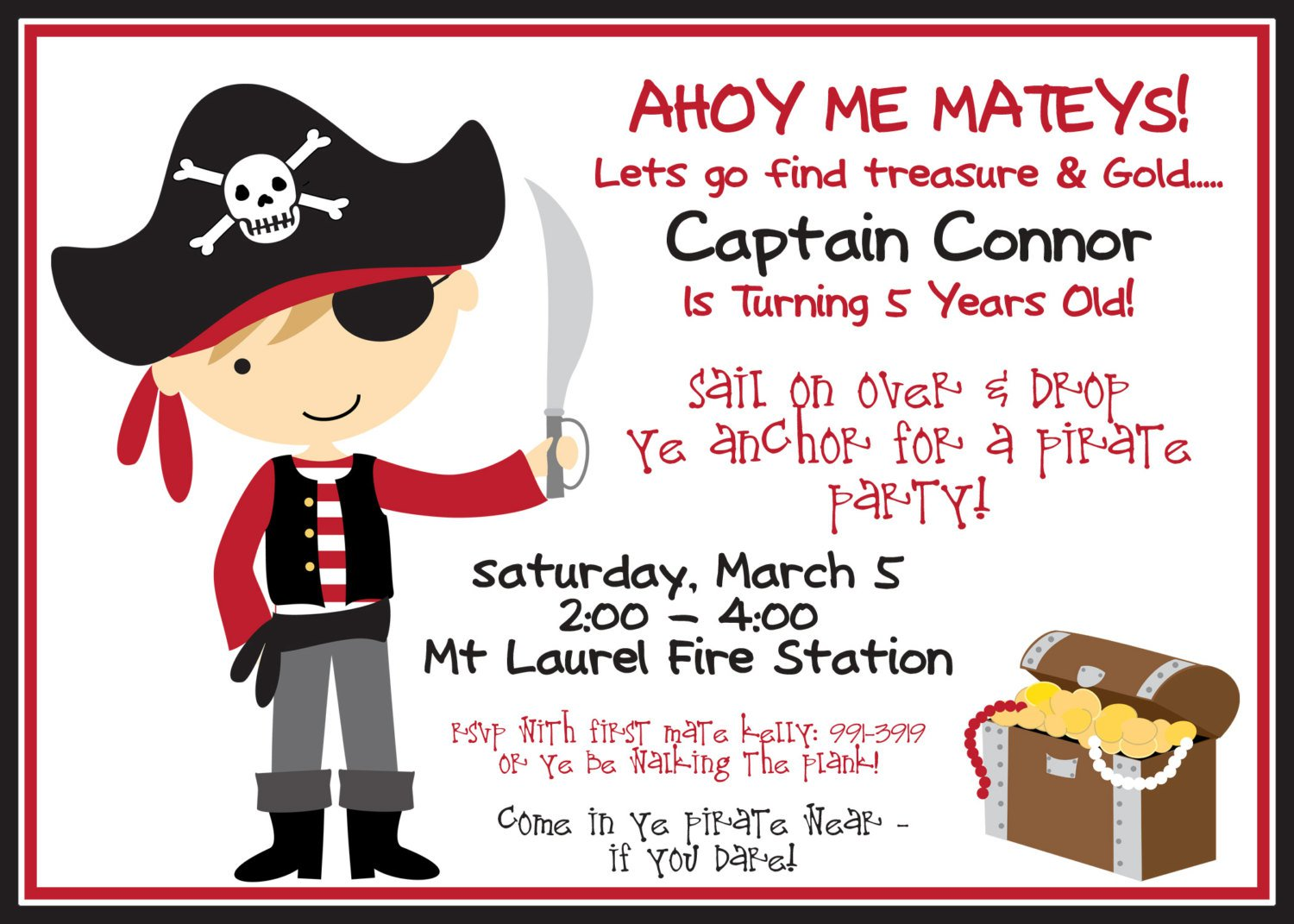 Birthday invitation wording pirate birthday invitation wording stopboris