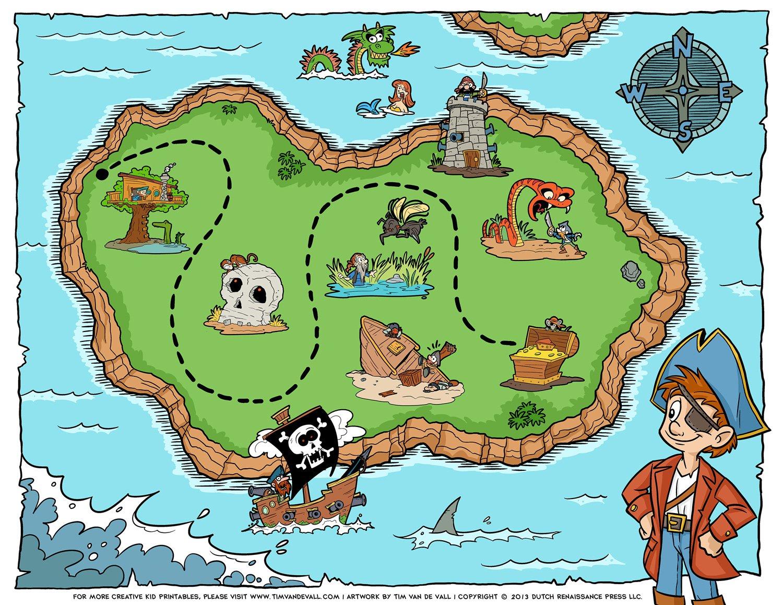 Pirate Maps To Print