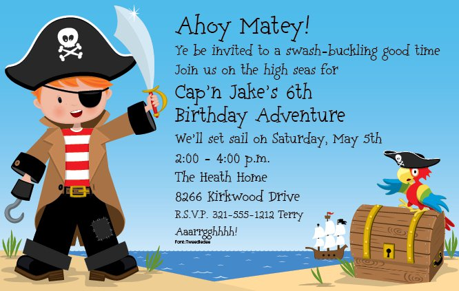 Party invitation wording pirate party invitation wording stopboris