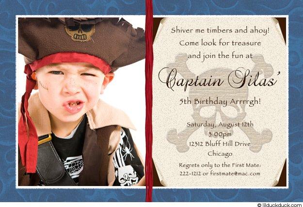 Pirate Party Invitation Wording Ideas
