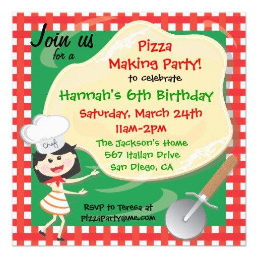 Pizza Birthday Party Invitations Free