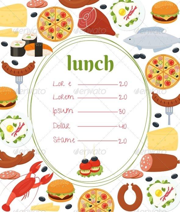 Pizza Lunch Invitation Template
