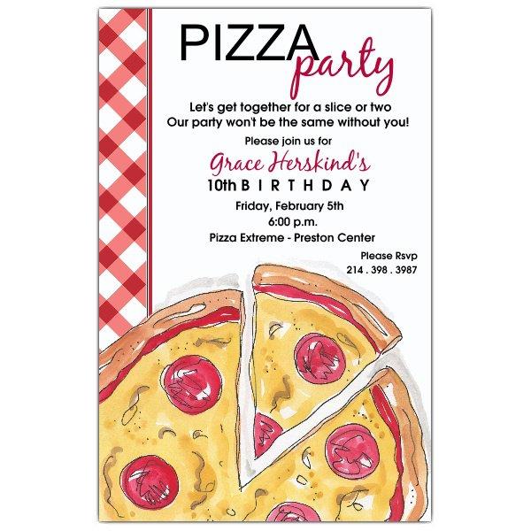 Pizza Luncheon Invitation