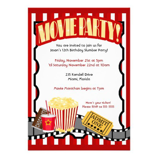 Pizza Party Birthday Invitations Template