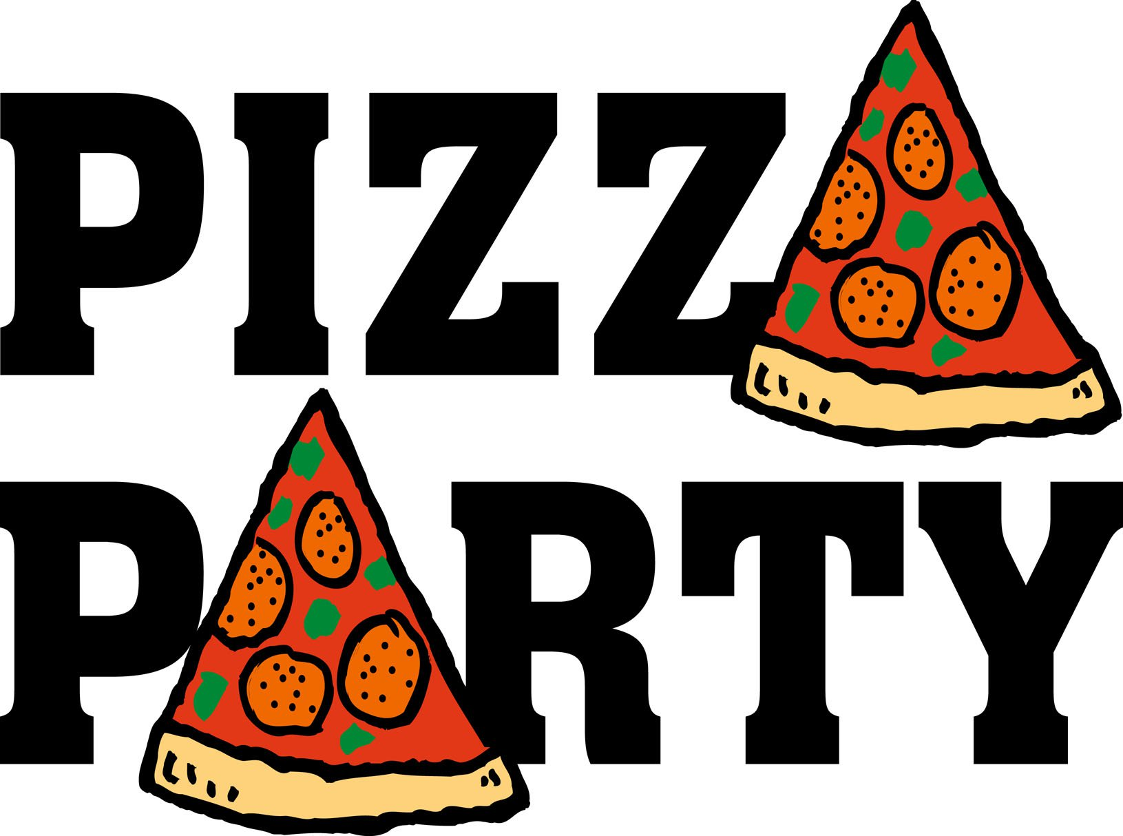 Pizza Party Blank Invitations