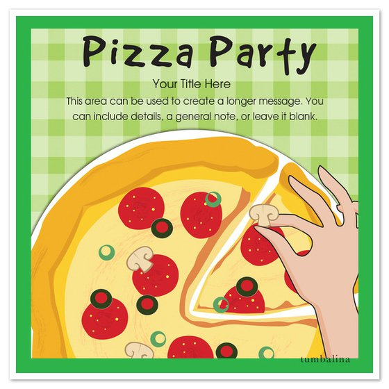 Pizza Party Invitation Blank Templates