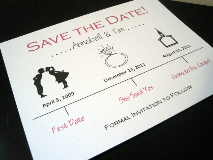 Plain Black And Red Invitations