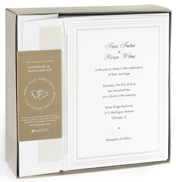 Plain White Invitation Kit