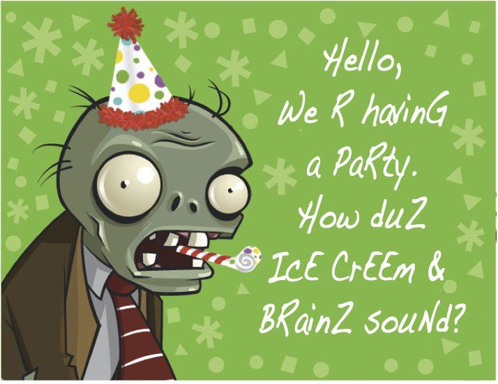 Plants Vs Zombies Invitation Templates