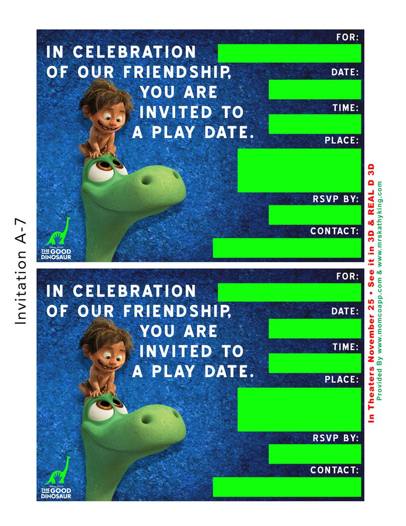 Play Date Party Invitation Templates